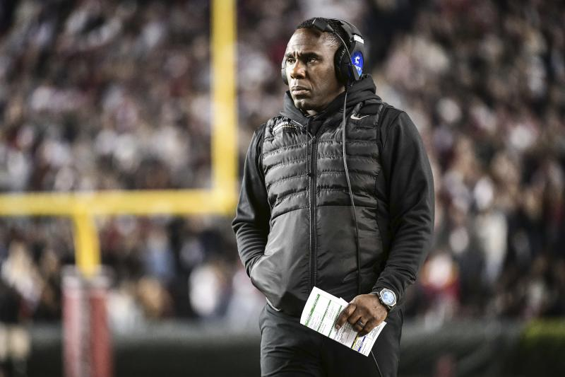 Derek Mason has guided Vanderbilt to two bowl games. (AP Photo/Sean Rayford)
