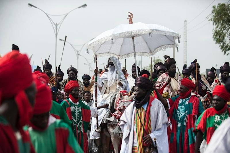 The Emir of Kano (C), Muhammadu Sanusi II is at the centre of tensions between new and old styles of governance (AFP Photo/STEFAN HEUNIS)