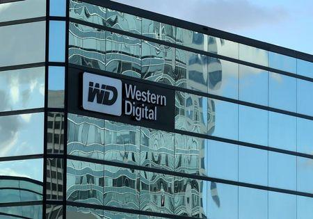 A Western Digital office building is shown in Irvine, California