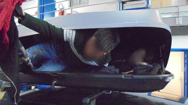 They were found by UK Border Force officers in France (Picture: Home Office)