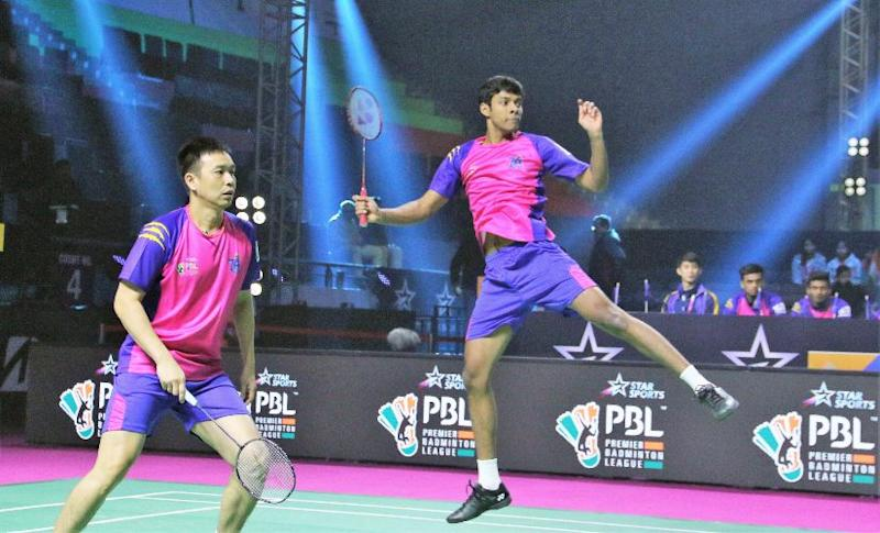 Chirag Shetty, India's best hope for the Tokyo Olympics in doubles badminton, won the first match of the tie for Pune 7 Aces