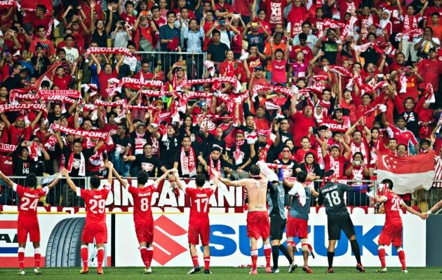 The fans were in full voice at the Jalan Besar Stadium during Singapore's 1-0 win over Philippines. (Photo courtesy of FAS)