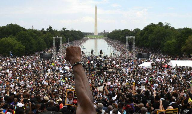 Commitment March: Thousands echo historic March on Washington to protest against police brutality