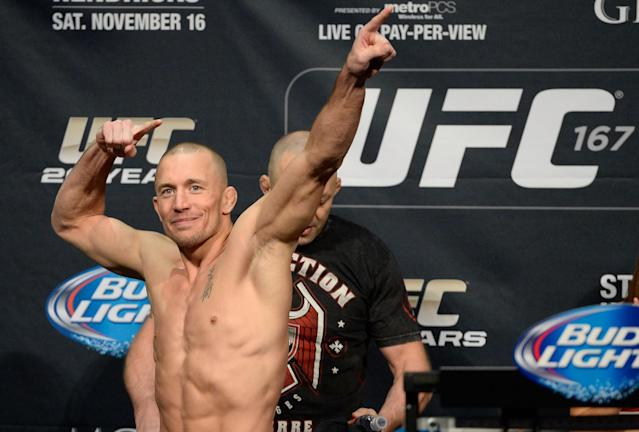 Georges St-Pierre is close to returning to the UFC. (Getty Images)