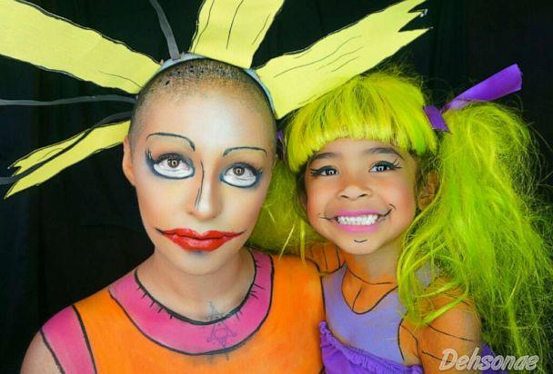 PHOTO: Dehsarae Mahrae and her daughter Khayah turn themselves into Cynthia and Angelica from 'Rugrats.' (Courtesy Dehsarae Mahrae)