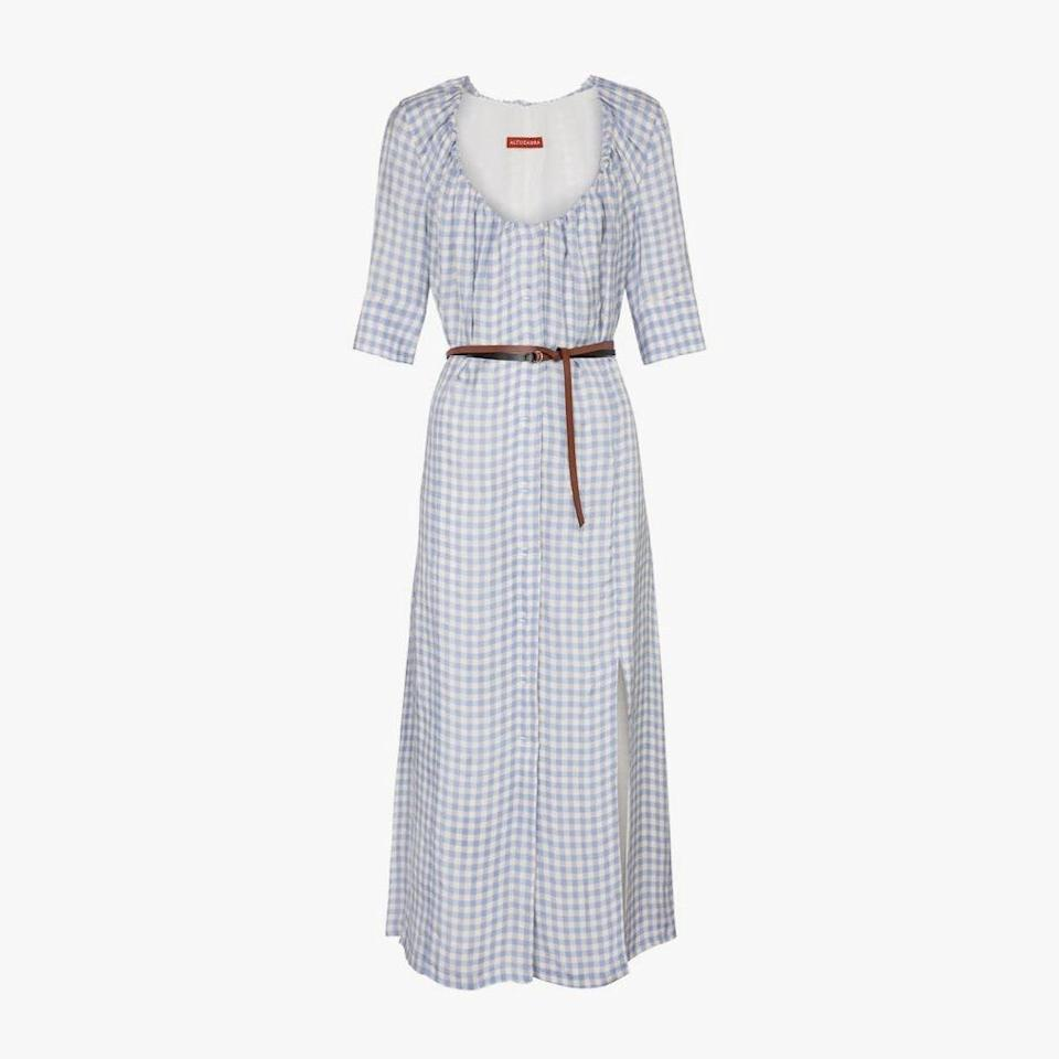 "$1429, MYTHERESA. <a href=""https://www.mytheresa.com/en-us/altuzarra-giselda-gingham-midi-dress-1724740.html"" rel=""nofollow noopener"" target=""_blank"" data-ylk=""slk:Get it now!"" class=""link rapid-noclick-resp"">Get it now!</a>"