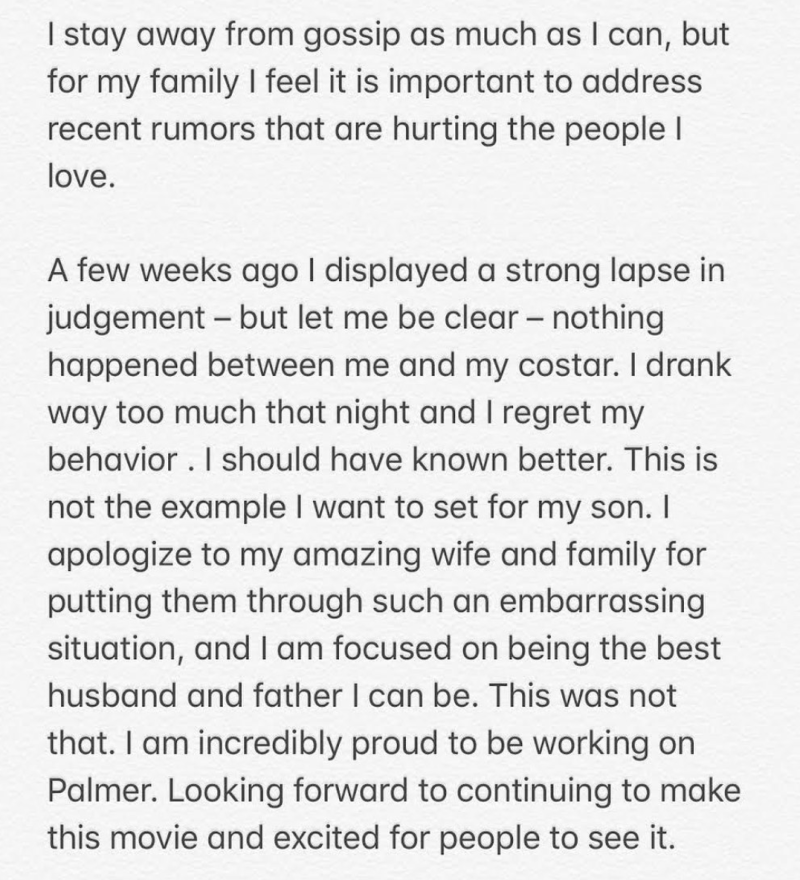 Justin Timberlake apology