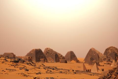 There are pyramids in Sudan, too - Credit: GALYNA ANDRUSHKO