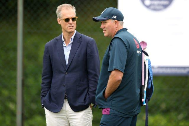 Chris Silverood (right) has assumed selection duties from the axed Ed Smith (left)