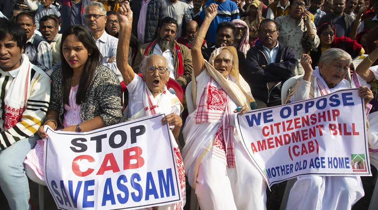 Citizenship Amendment Bill, CAB 2019, CAB protests, Citizenship Bill protests, Citizenship Amendment Bill protests, Amit Shah, Assam protests, Assam CAB protests, India news, Indian Express