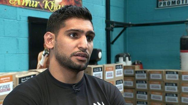 Amir Khan aid for refugees interview