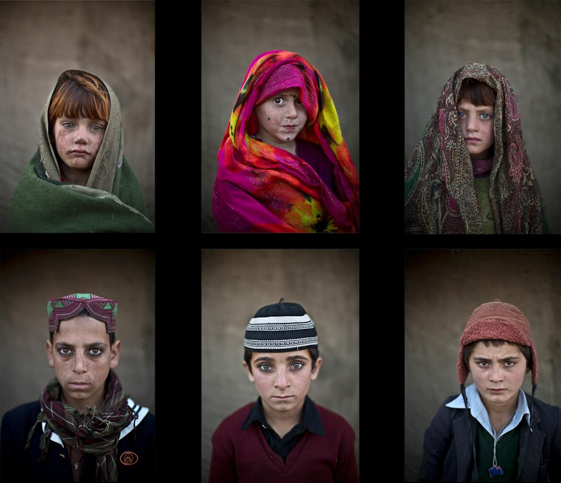 Pakistan Viral News Home: Portraits Of Afghan Refugee Children In Pakistan