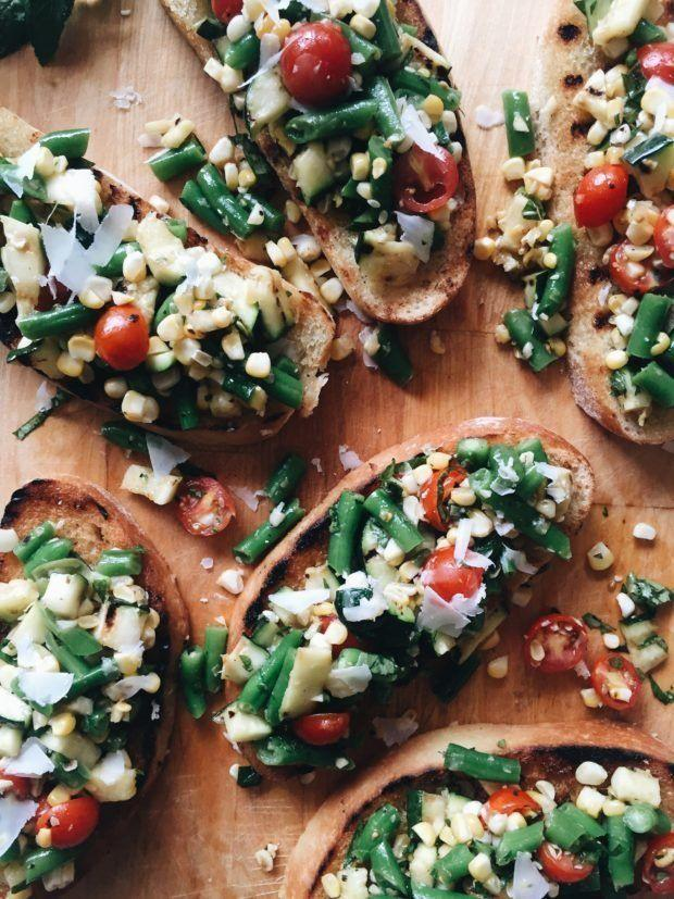 "<strong>Get the <a href=""http://bevcooks.com/2016/06/grilled-summer-vegetable-bruschetta/"" target=""_blank"">Grilled Summer Vegetable Bruschetta recipe</a> from Bev Cooks</strong>"