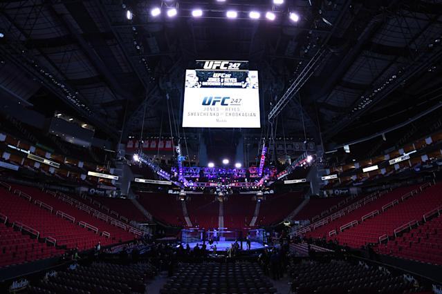UFC events won't take place in Nevada until the ban is lifted. (Photo by Josh Hedges/Zuffa LLC via Getty Images)