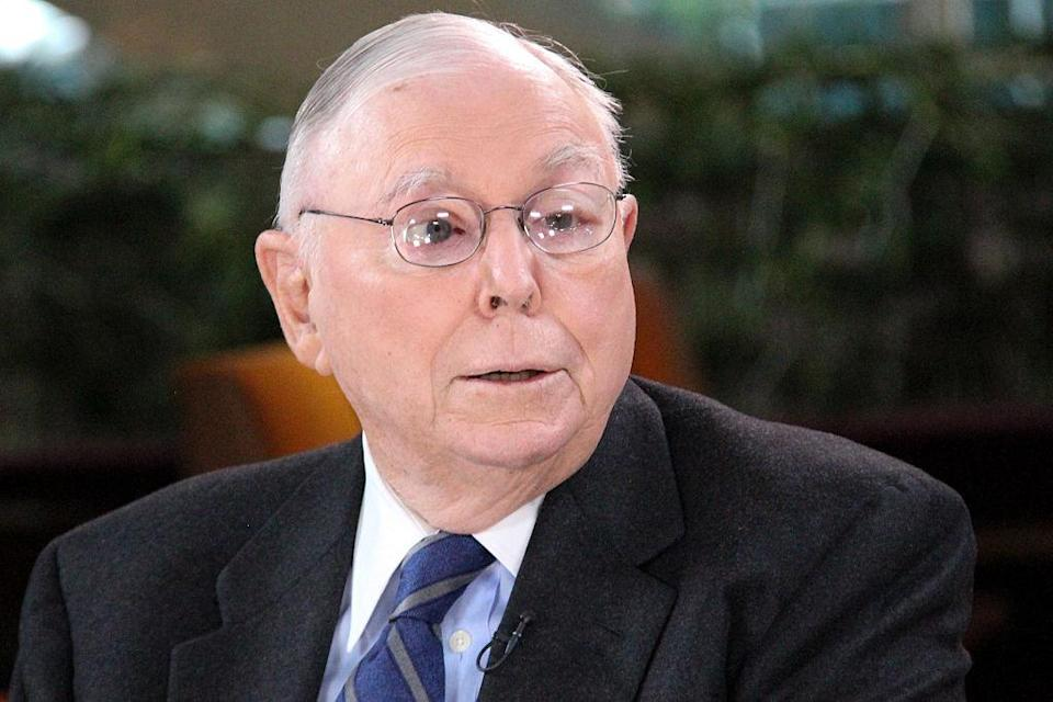 Charlie Munger in an interview on May 4, 2015. <em>Photo by: Lacy O'Toole/CNBC/NBCU Photo Bank via Getty</em>