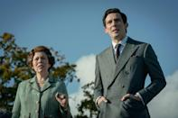 Olivia Colman and Josh O'Connor as Queen Elizabeth and Prince Charles.