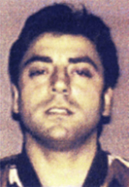 """FILE - This photo made available by the Italian police in 2008 shows Francesco """"Franky Boy"""" Cali. The reputed boss of New York's Gambino crime family was shot to death March 13, 2019, in front of his home in Staten Island, New York. (Italian Police/ANSA via AP, File)"""