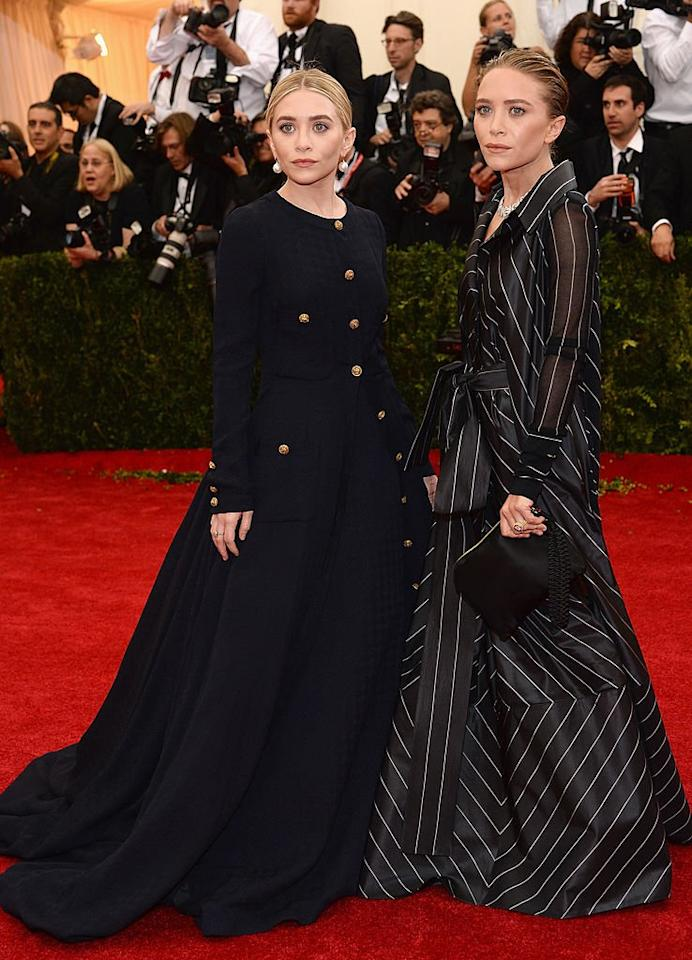 """Ashley Olsen and Mary-Kate Olsen attend the """"Charles James: Beyond Fashion"""" Costume Institute Gala at the Metropolitan Museum of Art on May 5, 2014 in New York City."""