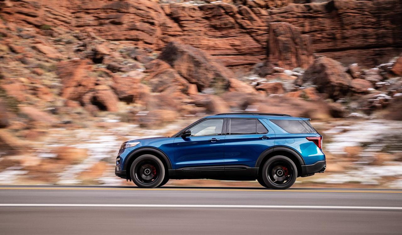 "<p>An all-new platform sits underneath <a href=""https://www.caranddriver.com/ford/explorer"">the new sixth-generation Explorer</a>, and it has a longitudinally mounted engine and a rear-wheel-drive bias.</p>"