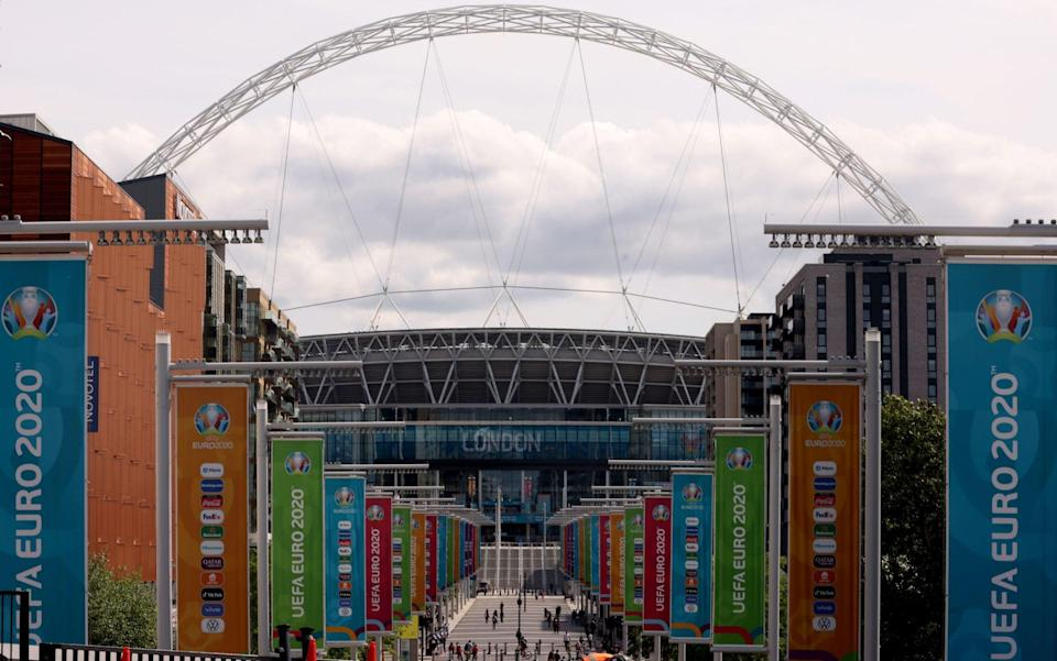 Clouds gather above the Wembley arch - PA
