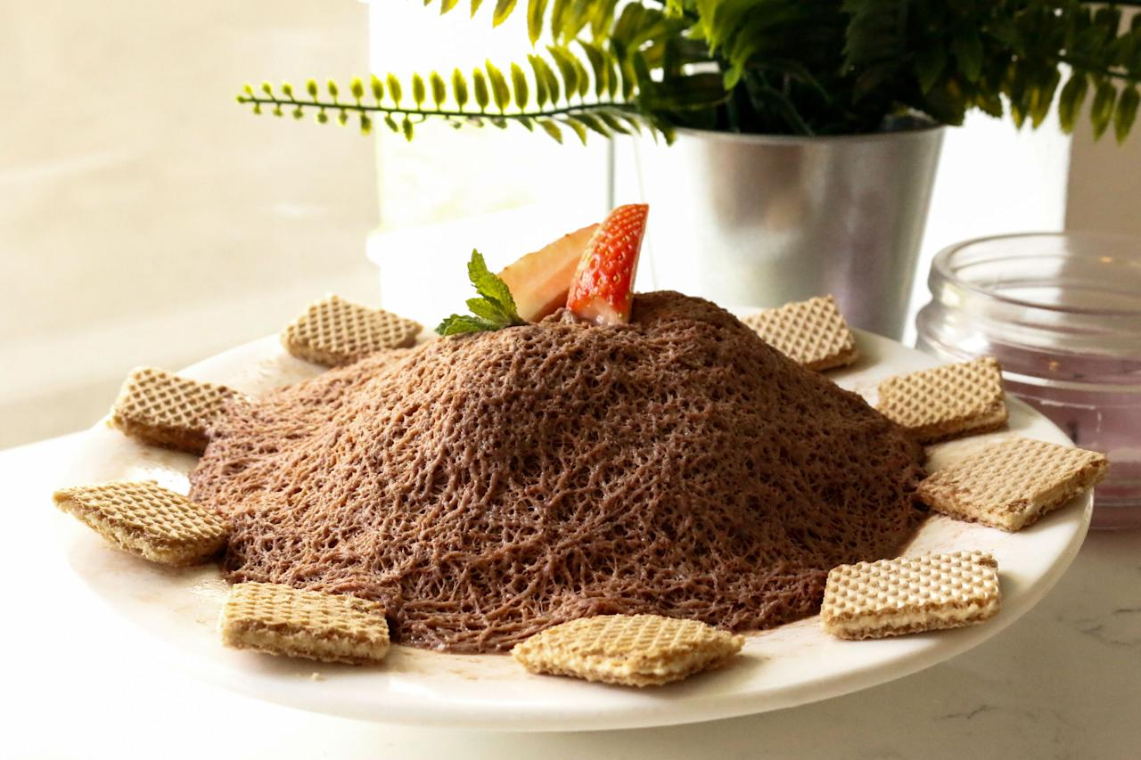 <p>The cafe specialises in siltarae bingsu, which is described as being very long and soft like silk. (Photo: Yahoo Lifestyle Singapore)</p>