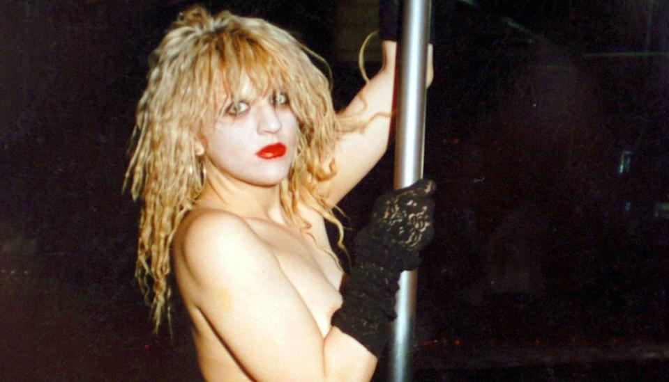 """<p>Hole singer and former wife of Kurt Cobain, Courtney Love worked as a stripper in L.A., Oregon, Alaska, Japan, and Taiwan. """"Stripping funded my band,"""" she said. """"There was a lot of temptation in terms of drugs back then. I was like, OK, when I make a million dollars, then I'll do all the drugs I want. Which I did, by the way.""""</p>"""