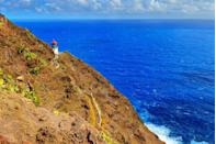 """<p>Say <em>aloha</em> to one of the best hikes in Hawaii. With its 647-foot incline and sweeping seaside vistas, the <a href=""""https://www.tripadvisor.com/Attraction_Review-g60982-d2664518-Reviews-Makapuu_Lighthouse_Trail-Honolulu_Oahu_Hawaii.html"""" rel=""""nofollow noopener"""" target=""""_blank"""" data-ylk=""""slk:Makapu'u Lighthouse Trail"""" class=""""link rapid-noclick-resp"""">Makapu'u Lighthouse Trail</a> is considered to be an easy hike with opportunities to spot whale spouts between December and April and sightings of the native cacti that line the trail. A charming lighthouse sets the scene for viewing beautiful Hawaiian sunsets</p><p><a class=""""link rapid-noclick-resp"""" href=""""https://go.redirectingat.com?id=74968X1596630&url=https%3A%2F%2Fwww.tripadvisor.com%2FAttraction_Review-g60982-d2664518-Reviews-Makapuu_Lighthouse_Trail-Honolulu_Oahu_Hawaii.html&sref=https%3A%2F%2Fwww.countryliving.com%2Flife%2Ftravel%2Fg24487731%2Fbest-hikes-in-the-us%2F"""" rel=""""nofollow noopener"""" target=""""_blank"""" data-ylk=""""slk:PLAN YOUR HIKE"""">PLAN YOUR HIKE</a></p>"""