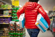 <p>Unless you're really desperate, there's no need to buy toilet paper from grocery store (and the same goes for paper towels and napkins). You can get toilet paper for a lot cheaper at a store like Costco or BJ's, where you can also buy in bulk. </p>