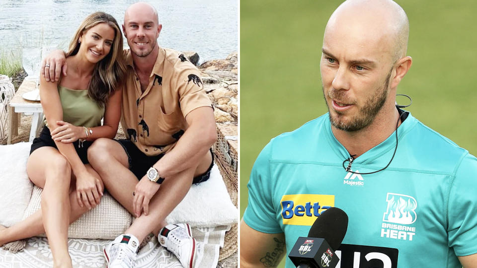 Chris Lynn, pictured here with girlfriend Karlie Andrews.