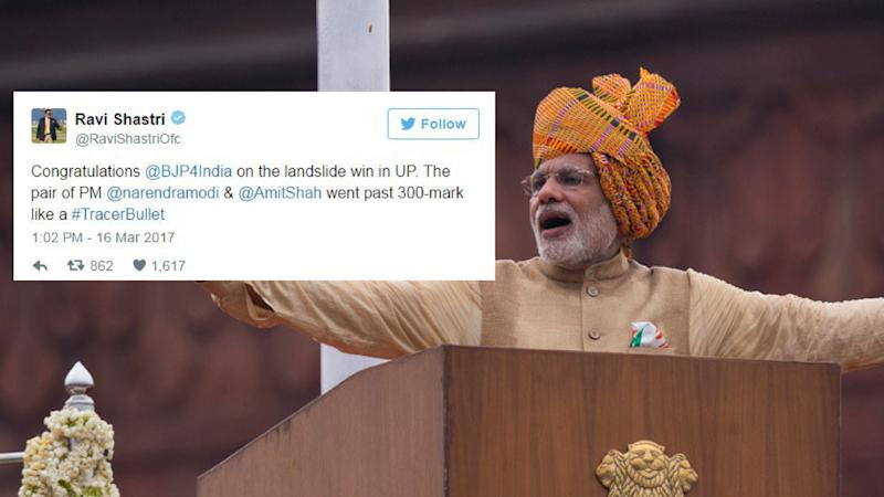 "Modi Had a 'Winning' Reply to Ravi Shastri's ""Tracer Bullet"" Tweet"