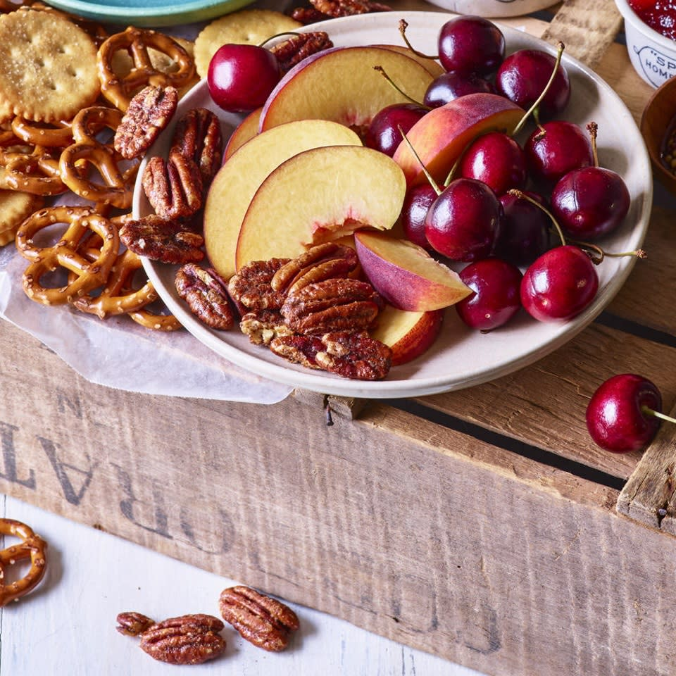 """<p>Making this delicious and healthy snack is very simple but also a rare instance where the recipe is meant to take longer in order to make it easier. Most nuts can burn faster than you can say """"What's that smell?""""--so these spiced pecans are baked low and slow to avoid any nasty surprises.</p>"""