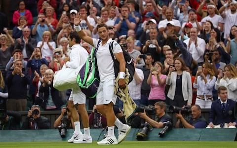 <span>Willis caught the headlines when he played Roger Federer on Wimbledon centre court in 2016</span> <span>Credit: Getty Images </span>