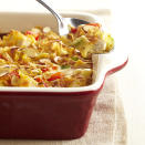 <p>A crunchy cornflake-almond topper complements this saucy chicken mixture.</p>