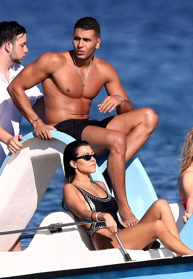 <p>Look away, Scott Disick! The <i>Keeping Up With the Kardashians</i> star was spotted with the new man in her life, Algerian model Younes Bendjima, during a jaunt to Saint-Tropez. (Photo: BACKGRID) </p>