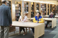 """<p><b>This Season's Theme:</b> """"This year is about transitions and new identities,"""" says creator Adam F. Goldberg. <br><br><b>Where We Left Off:</b> Freshman Fear Week gave Adam (Sean Giambrone) a peek at what high school will be like, while Geoff Schwartz (Sam Lerner) finally gave up on Erica (Hayley Orrantia) after one too many rejections. <br><br><b>Coming Up:</b> School will be a big focus this season. """"Adam is now a high school freshman and decides to be proactive in establishing his identity as a cool badass and not a geek,"""" Goldberg says. """"Erica is now a senior and even though it should be her best year yet, she's too busy pining for Geoff Schwartz. And Beverly becomes a nearly unstoppable smother by actually becoming a substitute teacher at William Penn.""""<br><br><b>The Breakfast Flub:</b> Goldberg says he had to start Season 4 with """"the episode that people pitch to me on a daily basis on Twitter,"""" so get ready for an homage to <i>The Breakfast Club</i>, thanks to Beverly (Wendi McLendon-Covey), who somehow lands her kids in Saturday detention. """"The family bonds like never before, <i>Breakfast Club</i> style,"""" Goldberg reveals. """"There is also much discussion on why there's no actual breakfast."""" By the way, there will also be another annual """"Adam's Folly"""" movie episode, and Goldberg tells us """"it involves booking one of the biggest stars on the planet right now."""" <i>– VLM</i> <br><br>(Credit: Michael Ansell/ABC)</p>"""