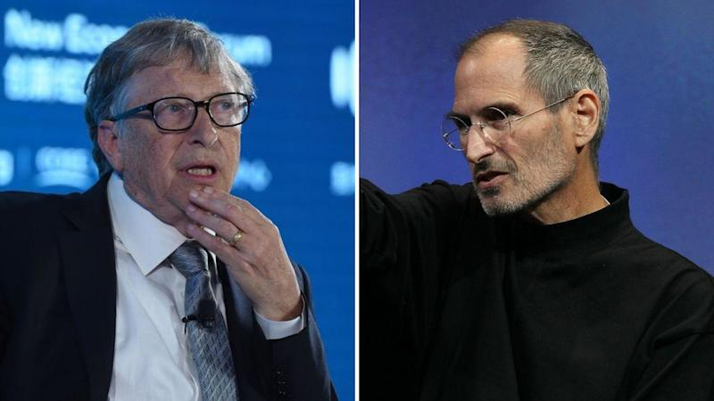Microsoft's Bill Gates and Apple's Steve Jobs. Images: Getty