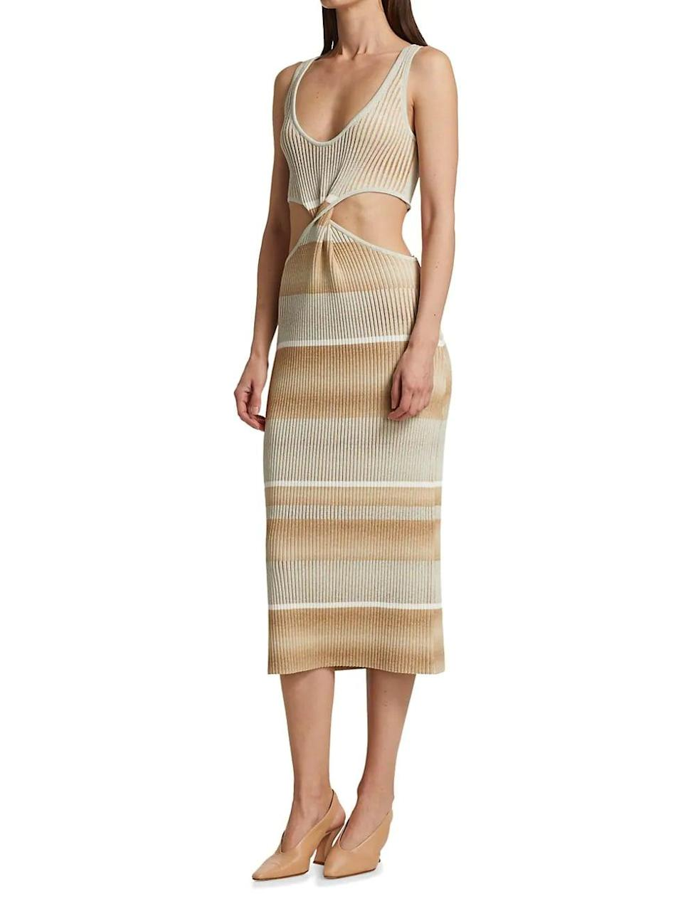 <p>This <span>Jonathan Simkhai Colleen Striped Cutout Tank Dress</span> ($495) is so unexpectedly sexy, we're sold.</p>