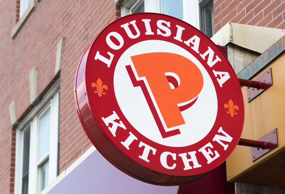 """<p>Did you know the Louisiana-based fried chicken restaurant offers Cajun-flavored turkeys for Thanksgiving? Find the restaurant nearest you using their <a href=""""https://www.popeyes.com/store-locator"""" rel=""""nofollow noopener"""" target=""""_blank"""" data-ylk=""""slk:store locator"""" class=""""link rapid-noclick-resp"""">store locator</a>, and call ahead to place your order. Prices start at $39.99 for a 13-16 pound turkey. Grab some green beans, mashed potatoes, and biscuits to go with it, and you'll be eating in no time!</p>"""