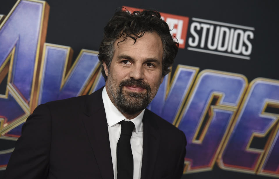 """Mark Ruffalo arrives at the premiere of """"Avengers: Endgame"""" at the Los Angeles Convention Center on Monday, April 22, 2019. (Photo by Jordan Strauss/Invision/AP)"""