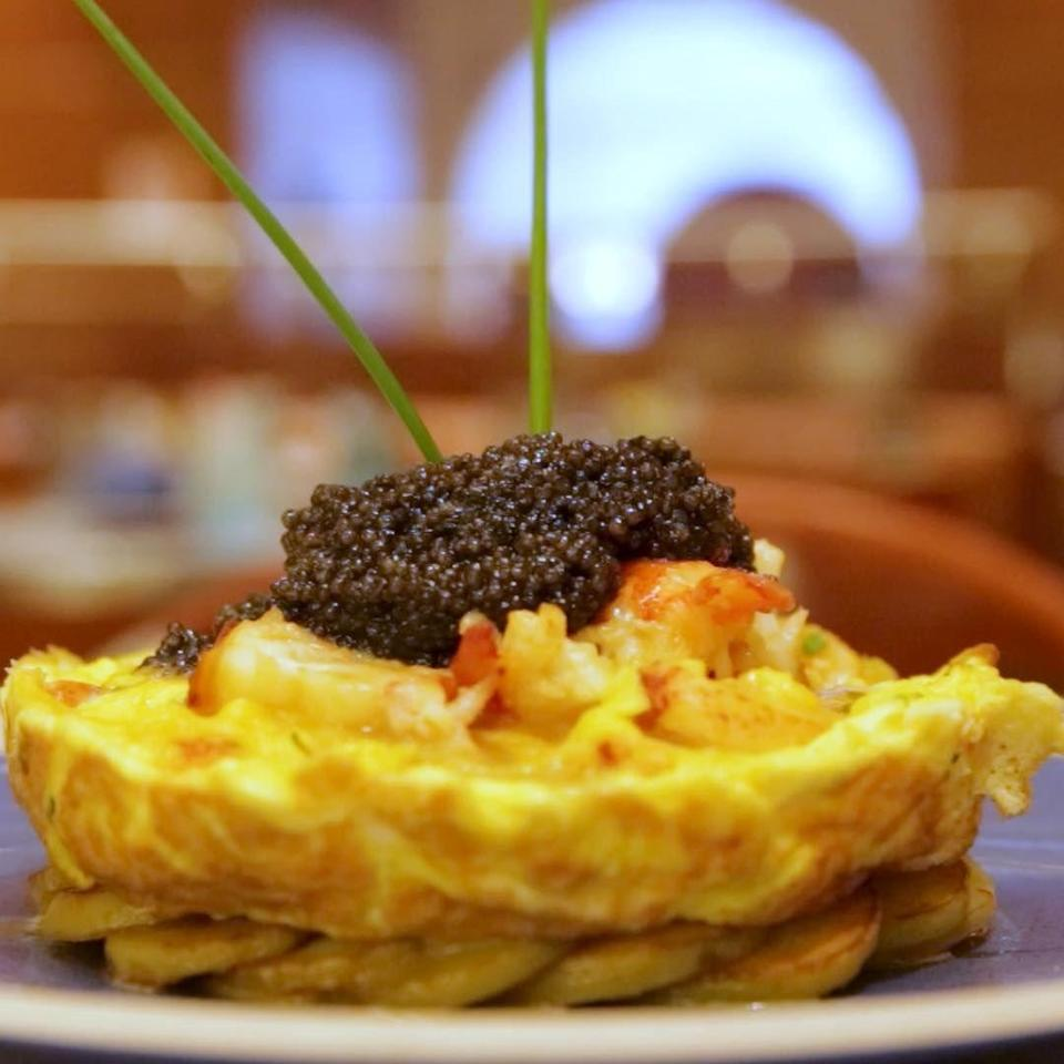 "<p>We've always been told that breakfast is the most important meal of the day, so why not start it off with a $1,000 frittata? At <a href=""https://www.tripadvisor.com/Restaurant_Review-g60763-d425552-Reviews-Norma_s-New_York_City_New_York.html"" rel=""nofollow noopener"" target=""_blank"" data-ylk=""slk:Norma's"" class=""link rapid-noclick-resp"">Norma's</a> in New York City, the classic egg dish gets a luxurious twist with the addition of 10 ounces of caviar and a pound of lobster. If you're not ready to fork over that chunk of change, Norma's also offers a petite version at a more reasonable $100.</p>"