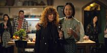 """<p>Dark, funny, and oh so witty, <strong>Russian Doll</strong> tells the story of Nadia, who unfortunately keeps dying and reliving her 36th birthday party. Created by Natasha Lyonne, <a class=""""link rapid-noclick-resp"""" href=""""https://www.popsugar.co.uk/Amy-Poehler"""" rel=""""nofollow noopener"""" target=""""_blank"""" data-ylk=""""slk:Amy Poehler"""">Amy Poehler</a>, and Leslye Headland, you already know this show is going to be good.</p> <p>Watch <a href=""""https://www.netflix.com/title/80211627"""" class=""""link rapid-noclick-resp"""" rel=""""nofollow noopener"""" target=""""_blank"""" data-ylk=""""slk:Russian Doll""""><strong>Russian Doll</strong></a> on Netflix now.</p>"""