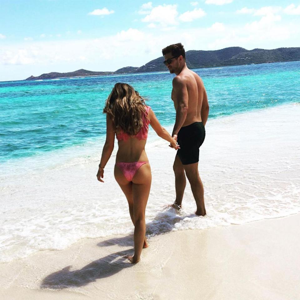 """<p><strong>Location:</strong> British Virgin Islands</p> <p>Former <em>Bachelorette</em> <a href=""""http://people.com/home/bachelorette-jojo-fletcher-jordan-rodgers-inside-their-dallas-home-exclusive-photos/"""" rel=""""nofollow noopener"""" target=""""_blank"""" data-ylk=""""slk:Jojo Fletcher and fiance Jordan Rodgers"""" class=""""link rapid-noclick-resp"""">Jojo Fletcher and fiance Jordan Rodgers</a> made a sweet escape to Necker Island, the exclusive Caribbean retreat owned by Richard Branson where the <a href=""""http://people.com/home/barack-and-michelle-obama-enjoy-a-post-presidency-vacation-in-the-british-virgin-islands/"""" rel=""""nofollow noopener"""" target=""""_blank"""" data-ylk=""""slk:Obamas also enjoyed a post-presidency getaway"""" class=""""link rapid-noclick-resp"""">Obamas also enjoyed a post-presidency getaway</a>. When Branson's not using it, visitors can book a private villa or the entire 74-acre island.</p>"""