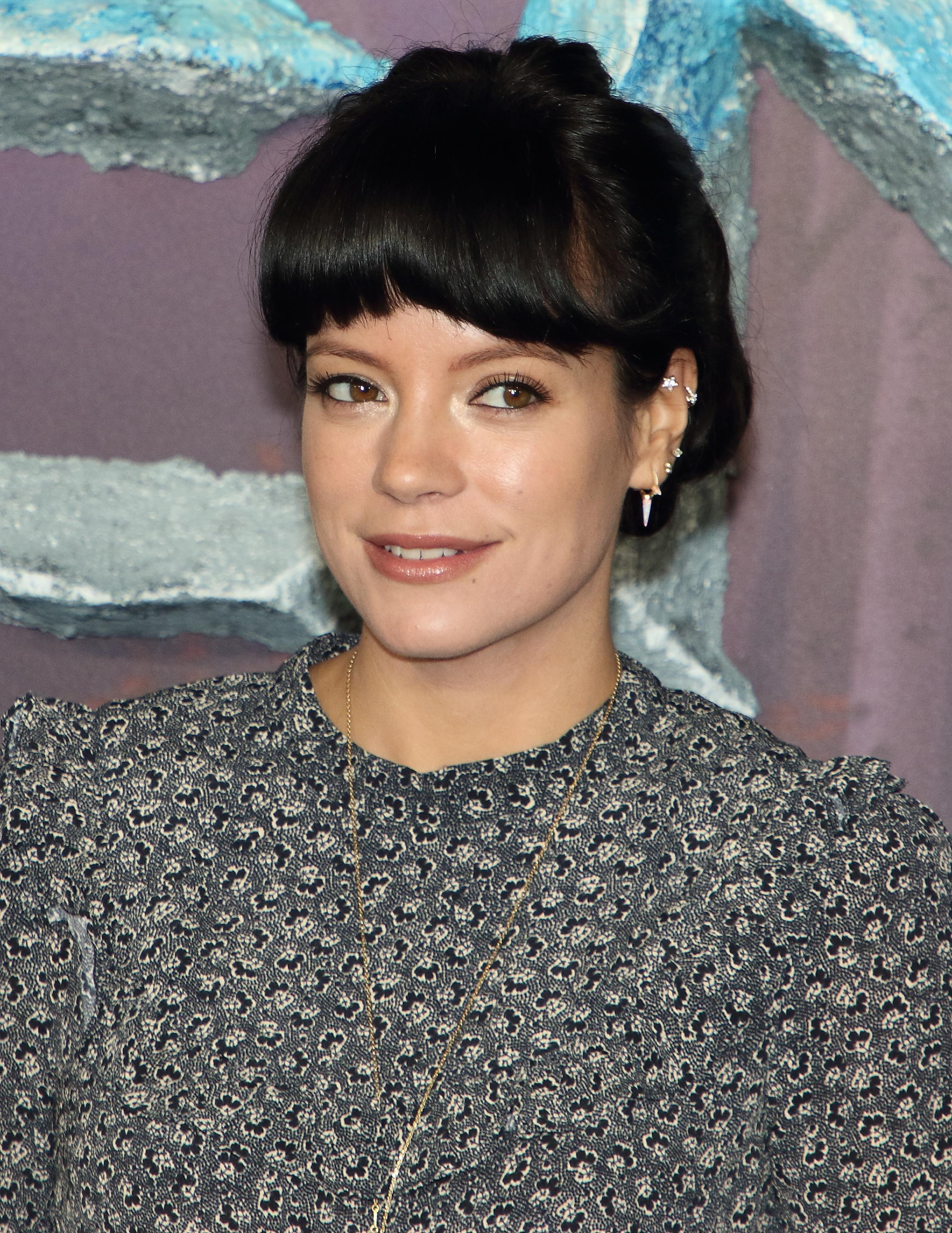 "Lily Allen attends the ""Frozen 2"" European premiere at BFI Southbank in London. (Photo by Keith Mayhew / SOPA Images/Sipa USA)"