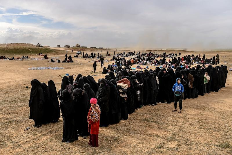 Tens of thousands of people have left the Islamic State group's last redoubt in eastern Syria in recent months (AFP Photo/Bulent KILIC)
