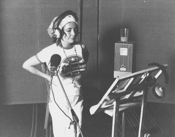 <p>This candid shot of Elizabeth shows her working in a recording studio in California in 1970, however it's unclear what she was working on. </p>