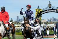 Winning jockey Jye McNeil was riding his first Melbourne Cup