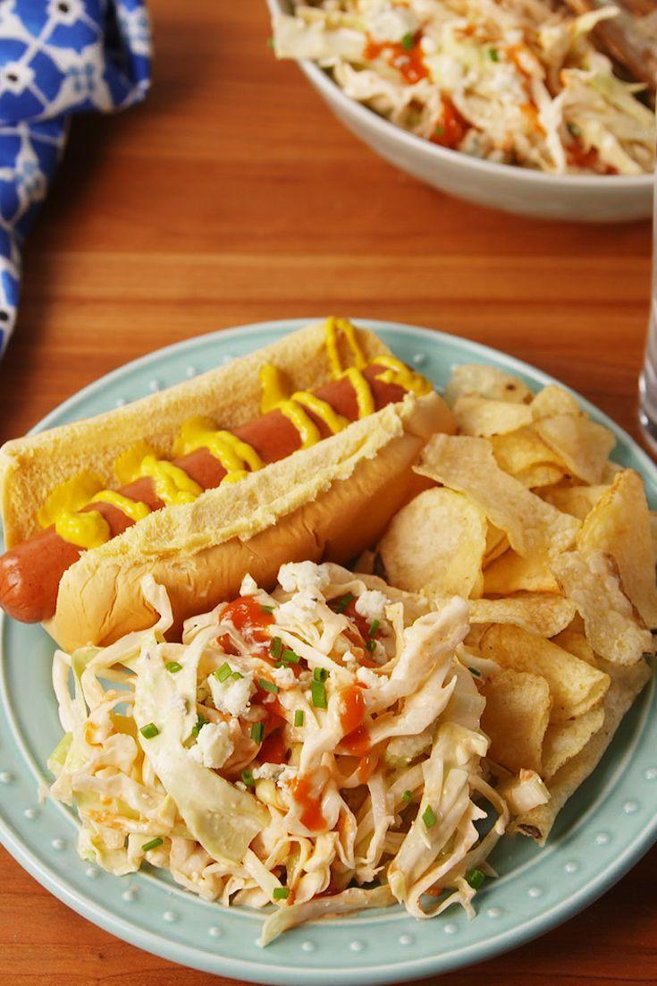 "<p>The ultimate side dish for the buffalo fanatic in your life.</p><p>Get the recipe from <a href=""https://www.delish.com/cooking/recipe-ideas/recipes/a53223/buffalo-cole-slaw-recipe/"" rel=""nofollow noopener"" target=""_blank"" data-ylk=""slk:Delish"" class=""link rapid-noclick-resp"">Delish</a>.</p>"