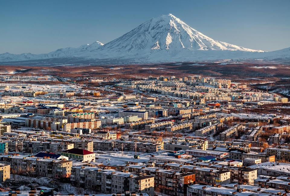 <p>Petropavlovsk-Kamchatsky is the place to go if you're a fan of the outdoors. It's the most eastern town on the northern hemisphere and can only be accessed by a flight from Moscow. While nature is its main point of interest, with volcanos, mountains and an extensive variety of wildlife, it's also filled with history and is regarded as the industrial, scientific, and cultural centre of the Kamchatka Krai area.<em>[Photo: Getty]</em> </p>