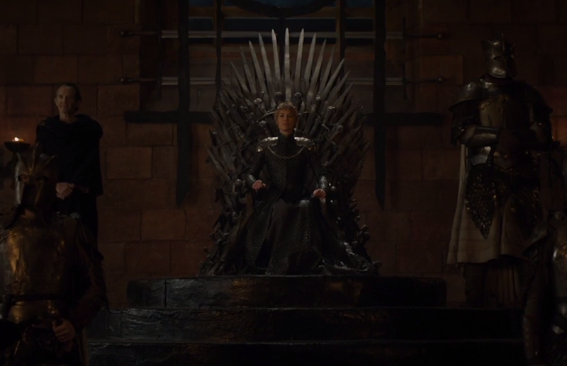 Lena Heady's Cersei Lannister in the iconic Iron Throne of TV's 'Game of Thrones' (credit: HBO)