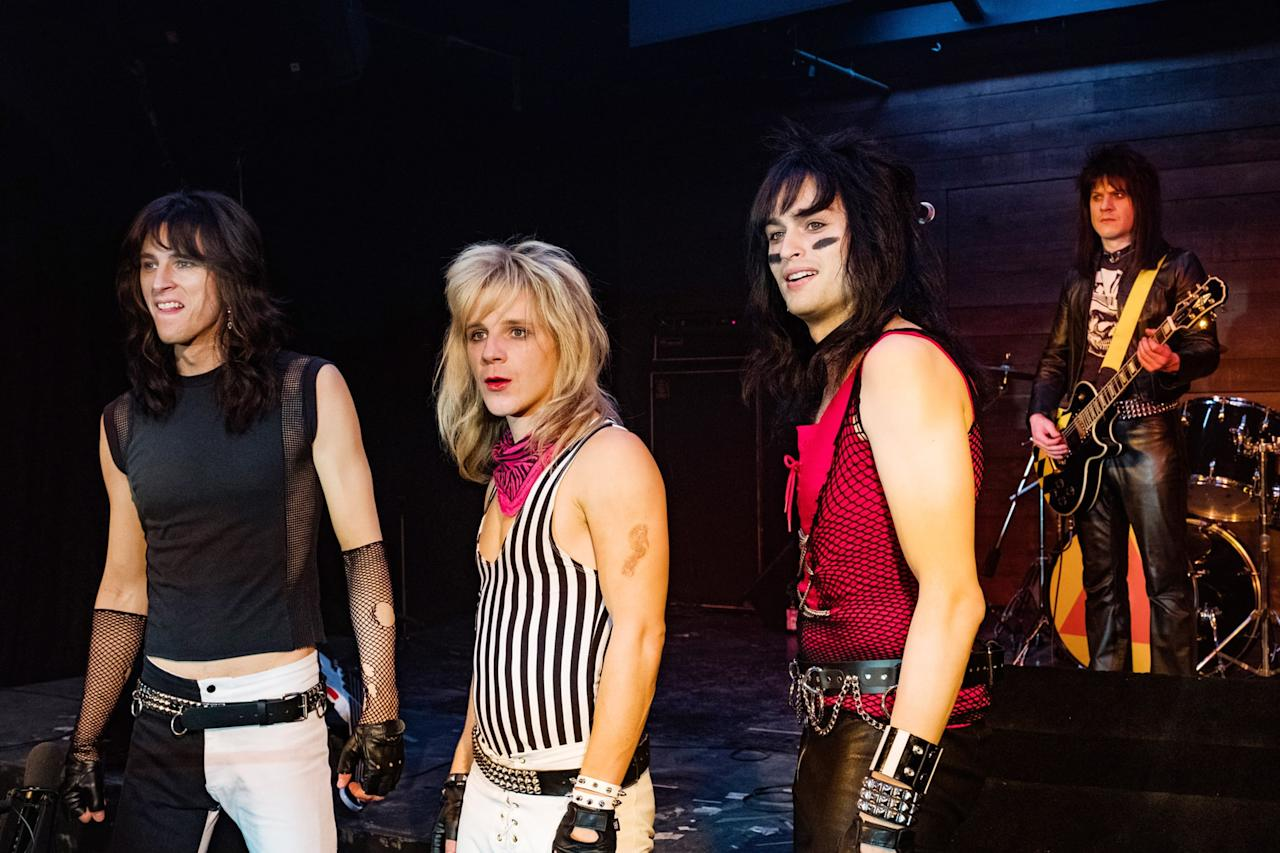 """<p>A group of young musicians come together to form the band Mötley Crue. As their fame rises to new heights, so does their hedonism, with devastating consequences.</p> <p><a href=""""http://www.netflix.com/title/80169469"""" target=""""_blank"""" class=""""ga-track"""" data-ga-category=""""Related"""" data-ga-label=""""http://www.netflix.com/title/80169469"""" data-ga-action=""""In-Line Links"""">Watch <strong>The Dirt</strong> on Netflix.</a></p>"""